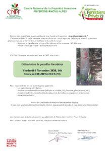Délimitation de parcelles forestières @ Mairie de CHAMPAGNEUX | Champagneux | Auvergne-Rhône-Alpes | France