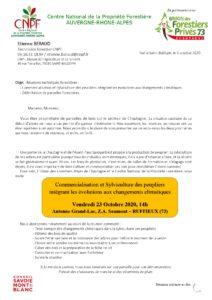 Commercialisation et Sylviculture des peupliers intégrant les évolutions aux changements climatiques @ Antenne Grand-Lac, Z.A. Saumont | Ruffieux | Auvergne-Rhône-Alpes | France