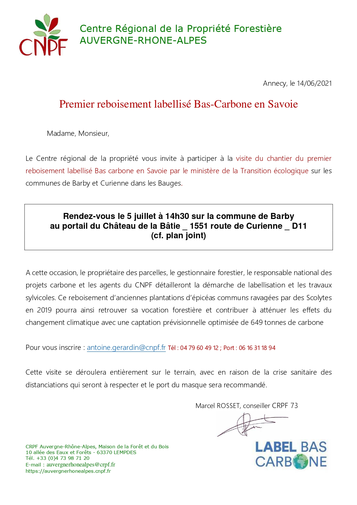 Premier reboisement labellisé Bas-Carbone en Savoie